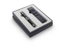 Pen Parker Sonnet Black CT Laka gift items in a set with case