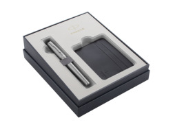 Fountain Pen Parker Urban Metro Metallic CT T2016 gift items in a set of cases for credit cards