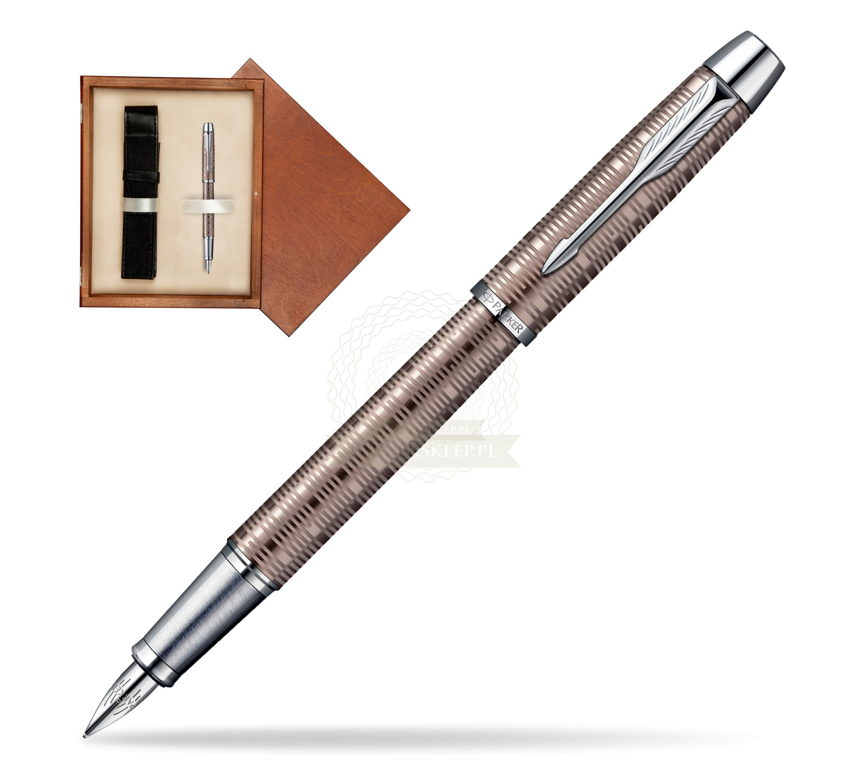 Parker Im Premium Vacumatic Brown Shadow Ct Fountain Pen