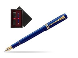 Parker Duofold Navy Blue Resin International GT Fountain Pen  single wooden box  Black Single Maroon