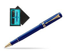 Parker Duofold Navy Blue Resin International GT Rollerball Pen  single wooden box  Black Single Turquoise