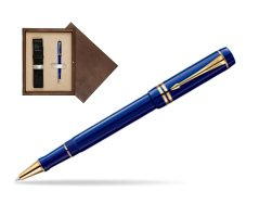 Parker Duofold Navy Blue Resin International GT Rollerball Pen  single wooden box  Wenge Single Ecru