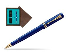 Parker Duofold Navy Blue Resin International GT Rollerball Pen  single wooden box  Wenge Single Turquoise