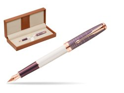 Parker Sonnet Contort Purple Cisele PGT Fountain Pen  in classic box brown