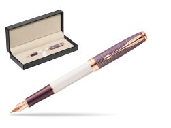 Parker Sonnet Contort Purple Cisele PGT Fountain Pen  in classic box  pure black