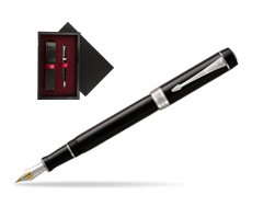 Parker Duofold Classic Black Centennial CT Fountain Pen  single wooden box  Black Single Maroon