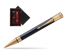 Parker Duofold Prestige Blue Chevron GT Ballpoint Pen  single wooden box  Black Single Maroon