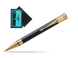 Parker Duofold Prestige Blue Chevron GT Ballpoint Pen  single wooden box  Black Single Turquoise