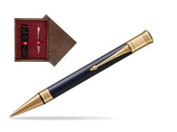 Parker Duofold Prestige Blue Chevron GT Ballpoint Pen  single wooden box  Wenge Single Maroon