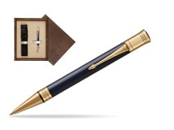 Parker Duofold Prestige Blue Chevron GT Ballpoint Pen  single wooden box  Wenge Single Ecru