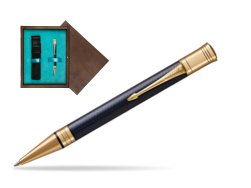 Parker Duofold Prestige Blue Chevron GT Ballpoint Pen  single wooden box  Wenge Single Turquoise