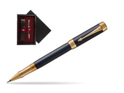Parker Duofold Prestige Blue Chevron GT Rollerball Pen  single wooden box  Black Single Maroon