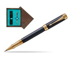 Parker Duofold Prestige Blue Chevron GT Rollerball Pen  single wooden box  Wenge Single Turquoise