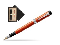 Parker Duofold Classic Big Red Vintage  CT Fountain Pen  single wooden box  Wenge Single Ecru