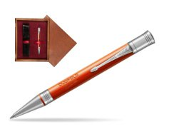 Parker Duofold Classic Big Red Vintage CT Ballpoint Pen  single wooden box Mahogany Single Maroon