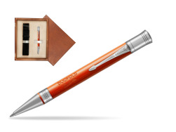 Parker Duofold Classic Big Red Vintage CT Ballpoint Pen  single wooden box  Mahogany Single Ecru