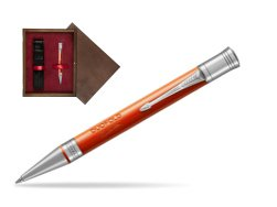 Parker Duofold Classic Big Red Vintage CT Ballpoint Pen  single wooden box  Wenge Single Maroon
