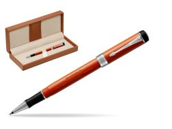 Parker Duofold Classic Big Red Vintage CT Rollerball Pen  in classic box brown