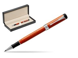 Parker Duofold Classic Big Red Vintage CT Rollerball Pen  in classic box  pure black