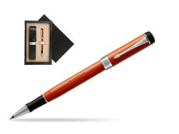 Parker Duofold Classic Big Red Vintage CT Rollerball Pen  single wooden box  Wenge Single Ecru