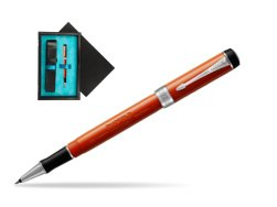 Parker Duofold Classic Big Red Vintage CT Rollerball Pen  single wooden box  Black Single Turquoise