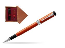 Parker Duofold Classic Big Red Vintage CT Rollerball Pen  single wooden box Mahogany Single Maroon