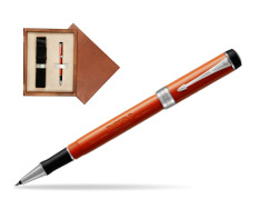 Parker Duofold Classic Big Red Vintage CT Rollerball Pen  single wooden box  Mahogany Single Ecru