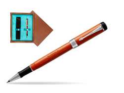 Parker Duofold Classic Big Red Vintage CT Rollerball Pen  single wooden box  Mahogany Single Turquoise