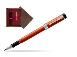 Parker Duofold Classic Big Red Vintage CT Rollerball Pen  single wooden box  Wenge Single Maroon