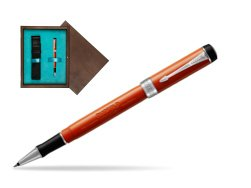 Parker Duofold Classic Big Red Vintage CT Rollerball Pen  single wooden box  Wenge Single Turquoise
