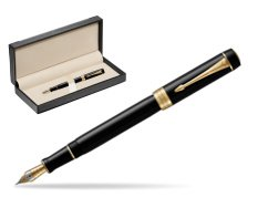 Parker Duofold Classic Black Centennial GT Fountain Pen  in classic box  black