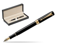 Parker Duofold Classic Black International GT Fountain Pen  in classic box  pure black