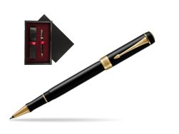 Parker Duofold Classic Black GT Rollerball Pen  single wooden box  Black Single Maroon