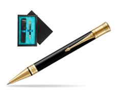 Parker Duofold Classic Black GT Ballpoint Pen  single wooden box  Black Single Turquoise