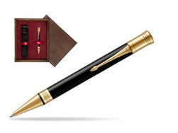 Parker Duofold Classic Black GT Ballpoint Pen  single wooden box  Wenge Single Maroon