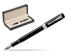 Parker Duofold Classic Black International CT Fountain Pen  in classic box  pure black