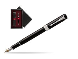 Parker Duofold Classic Black International CT Fountain Pen  single wooden box  Black Single Maroon