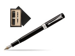 Parker Duofold Classic Black International CT Fountain Pen  single wooden box  Wenge Single Ecru