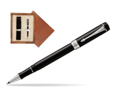 Parker Duofold Classic Black CT Rollerball Pen  single wooden box  Mahogany Single Ecru