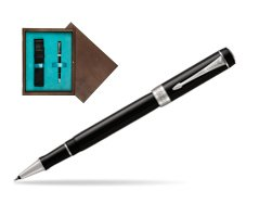 Parker Duofold Classic Black CT Rollerball Pen  single wooden box  Wenge Single Turquoise