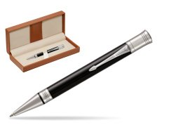 Parker Duofold Classic Black CT Ballpoint Pen  in classic box brown