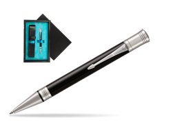 Parker Duofold Classic Black CT Ballpoint Pen  single wooden box  Black Single Turquoise