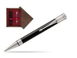 Parker Duofold Classic Black CT Ballpoint Pen  single wooden box  Wenge Single Maroon
