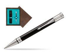 Parker Duofold Classic Black CT Ballpoint Pen  single wooden box  Wenge Single Turquoise