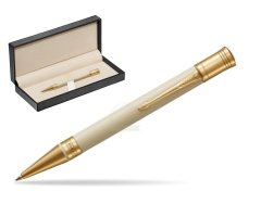 Parker Duofold Classic Ivory & Black GT Ballpoint Pen  in classic box  pure black