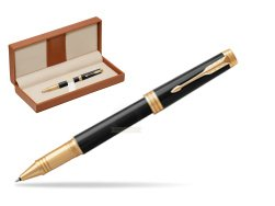 Parker Black Lacquer GT Rollerball Pen  in classic box brown