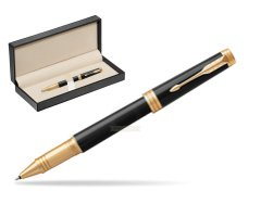 Parker Black Lacquer GT Rollerball Pen  in classic box  pure black