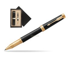 Parker Black Lacquer GT Rollerball Pen  single wooden box  Wenge Single Ecru
