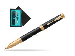 Parker Black Lacquer GT Rollerball Pen  single wooden box  Black Single Turquoise