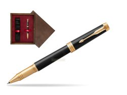 Parker Black Lacquer GT Rollerball Pen  single wooden box  Wenge Single Maroon